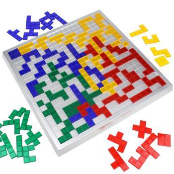 小乖蛋 角斗士棋2-4人版方格游戏 俄罗斯方块桌面智力棋牌益智玩具