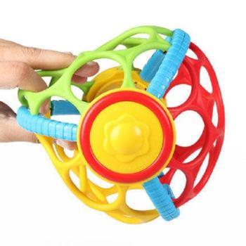 JuLeBaby/聚乐宝贝 婴儿玩具宝宝手抓球叮当球运动健身软球铃铛球早教摇铃响铃
