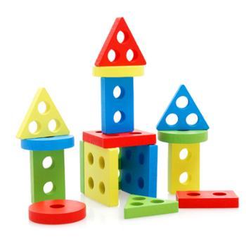巧灵珑 几何形状配对积木玩具