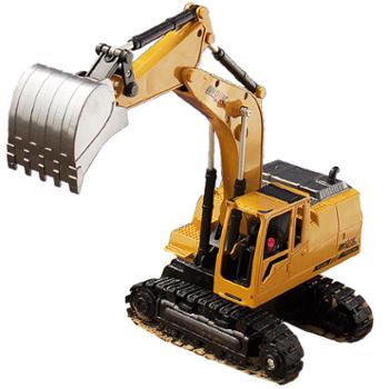 儿童玩具电动工程车 遥控挖土机