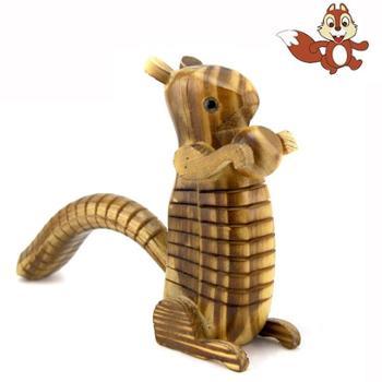 仿真木质松鼠木制玩具模型木制创意儿童玩具
