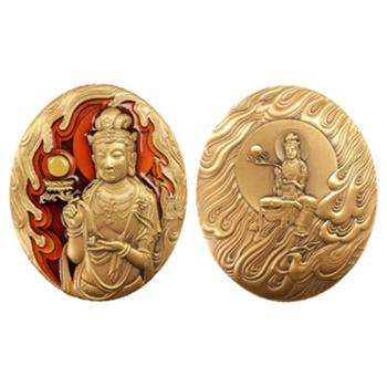 中国佛像纪念章(第四组)日光菩萨大铜章