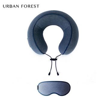 都市之森花卷旅行套装男女便携U型枕眼罩