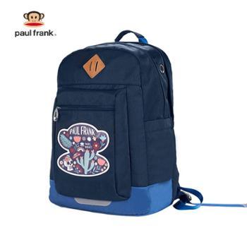 大嘴猴(PaulFrank)男女卡通双肩包时尚背包学生书包PFL015A藏蓝色