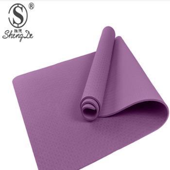 【胜德】加宽加厚TPE瑜伽垫子瑜珈垫健身垫普拉提垫