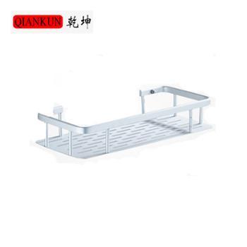 乾坤太空铝厨房浴室卫生间长方形储物架单层免钉免打孔