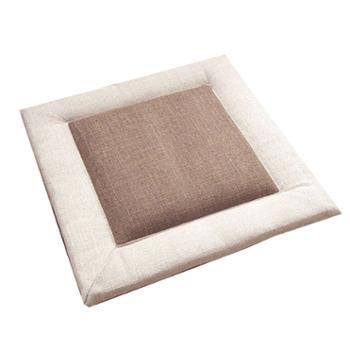 【月下人家】亚麻椅垫日式坐垫榻榻米坐垫40*40cm(一个)