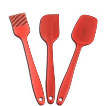 硅胶烘培工具 硅胶刮刀、铲刀、刷子3件套装