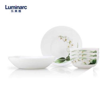 乐美雅LC-S100G悠兰白玉餐具6件套