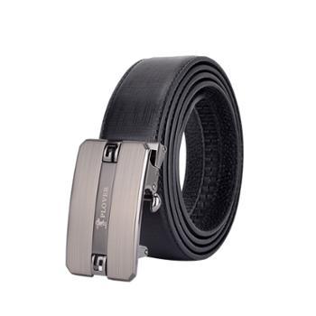 啄木鸟头层牛皮男士皮带礼盒装105-125cmGD01A02-DA-B1黑色