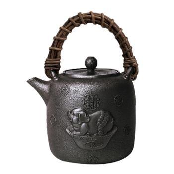晋韵堂十二生肖手工铸铁壶