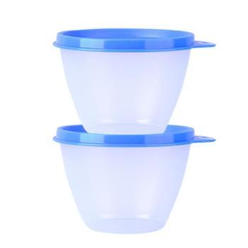 特百惠430ml鲜果保鲜碗/350ml柠檬小黄盒保鲜碗2件套