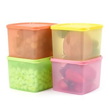 特百惠保鲜方盒800ml冷藏密封储藏盒4件套