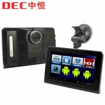 中恒D58PRO行车记录仪导航仪三合一体机7寸电容屏GPS安卓