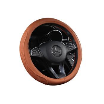 HH四季P302牛皮汽车方向盘套新款高档潮流通用把套车内饰品