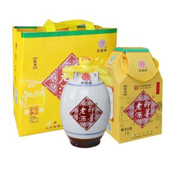 即墨老酒十年陈酿黍米黄酒焦香1Lx2坛中华老字号