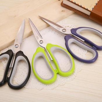得力6047多功能家用办公剪刀 高碳钢刀身 得力剪刀 强力剪刀