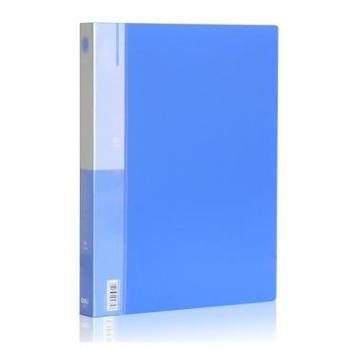 得力(deli)5382 A4二孔O型文件夹 蓝 单只
