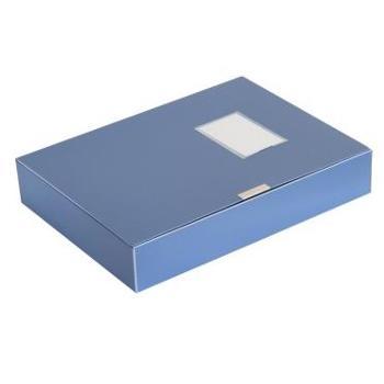 得力(deli)5603 标准型PP粘扣档案盒 A4 55mm 蓝色 单只装