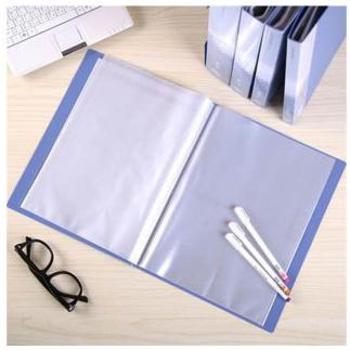 得力(deli)资料册 5040 资料册 A4 40页 插页夹 插页文件夹 蓝色