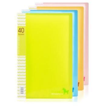 得力(deli)5164 40页学生资料册 时尚彩色多页文件册 颜色随机