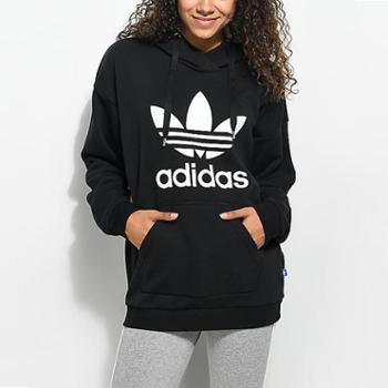 阿迪达斯三叶草女装新款运动卫衣针织休闲套头衫CE2408S