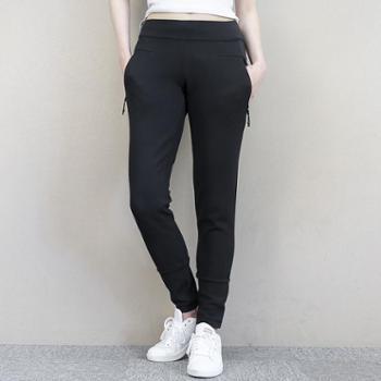 Adidas阿迪达斯女子运动裤小脚裤针织训练长裤BR1900