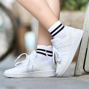 阿迪达斯adidasneoHOOPS2.0女子休闲鞋板鞋黑B42095白B42096