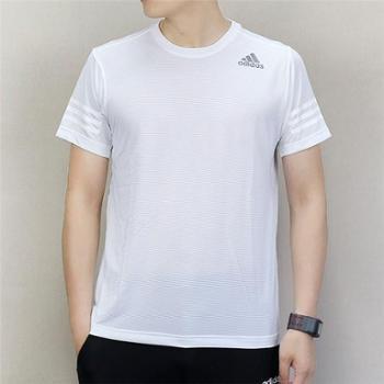 adidas阿迪达斯男子运动训练透气短袖T恤CW3928