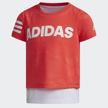阿迪达斯LGGRAPHICTEE小童训练短袖上衣DW4065