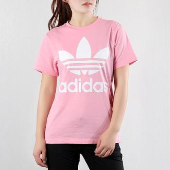 阿迪达斯三叶草女童装运动休闲简约透气短袖T恤DV2909