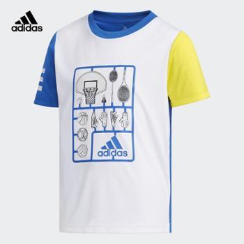 Adidas阿迪达斯LBSSCLTEE1小童训练短袖上衣DW4100