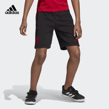 阿迪达斯adidasMUFCKIDSSHO大童曼联童款足球短裤DW4714