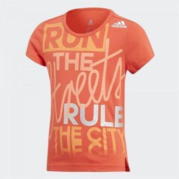 阿迪达斯adidas童装夏款儿童运动服女小童圆领短袖T恤CF6636-M