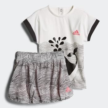 Adidas阿迪达斯夏季女小童卡通运动休闲套装CF7421