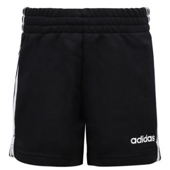 阿迪达斯短裤男女童装针织透气五分裤运动裤DV0351