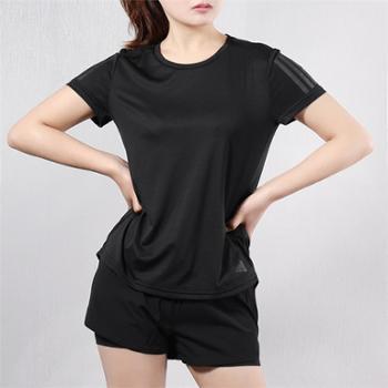 阿迪达斯adidas女子运动休闲健身速干透气短袖T恤DQ2630