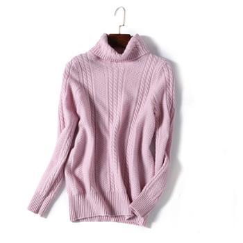 巴音孟克高领加厚纯羊绒衫长袖