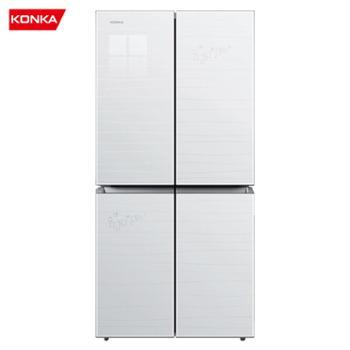 康佳/Konka十字对开多门家用冰箱超薄机身静音节能BCD-396MN