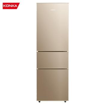 康佳/Konka风冷直冷一体家用小型三门冰箱BCD-196WEGX3S