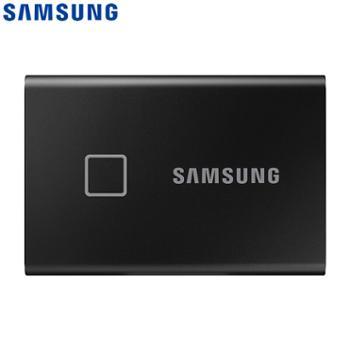 三星/SAMSUNG1TBType-c移动硬盘T7Touch经典黑MU-PC1T0K
