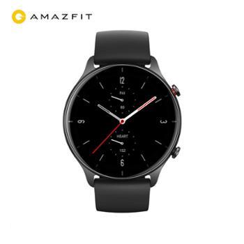 amazfit 智能运动手表男超视网膜屏幕 离线语音 血氧检测 消息提醒 GTR 2e 曜石黑