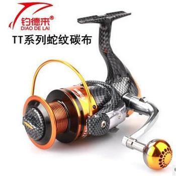 钓德来TT6000型高碳蛇纹布渔轮13轴无间隙纺车轮鱼线轮海钓鱼轮