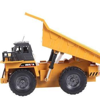 540工程车拉土车遥控车模型玩具车遥控自卸车合金版