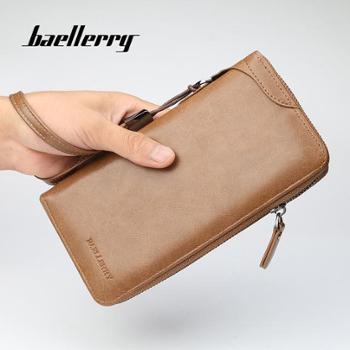 baellerry男士钱包商务休闲多功能手拿包时尚大容量拉链手抓包
