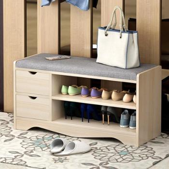 (生活用品)换鞋凳简约现代储物凳穿鞋凳多功能收纳凳沙发凳可坐鞋柜凳子