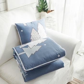 数码印花ins风两用抱枕被办公室靠枕汽车靠垫(40*40cm展开105*150cm)