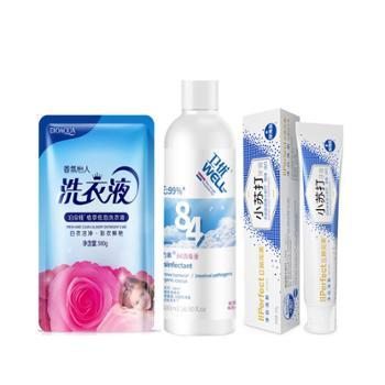 【居家好品】生活清洁护理套装(洗衣液500g+消毒液500g+牙膏100g)