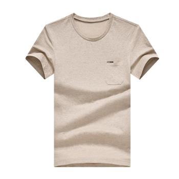 斯尔比特短袖t恤男士纯色圆领汗衫T1822