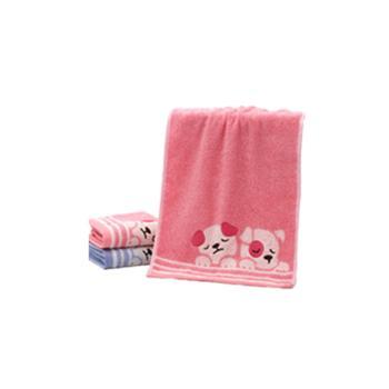 金号 毛巾T1161 纯棉卡通儿童小毛巾 2条袋装